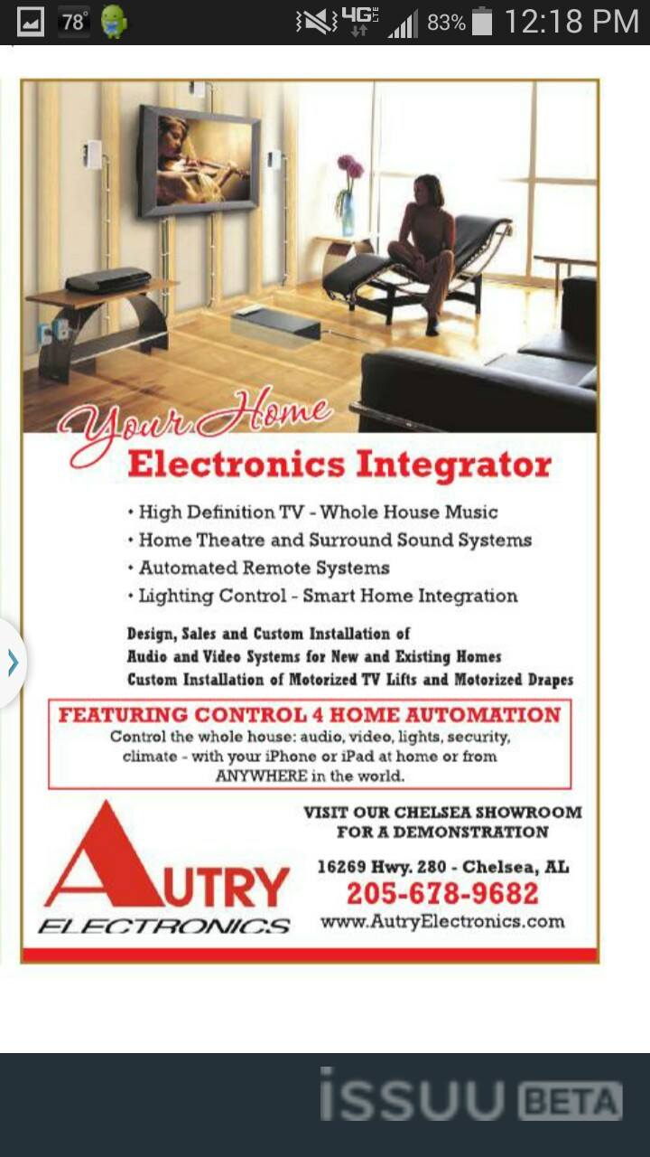 Autry Electronics 16269 Old Hwy 280, Chelsea