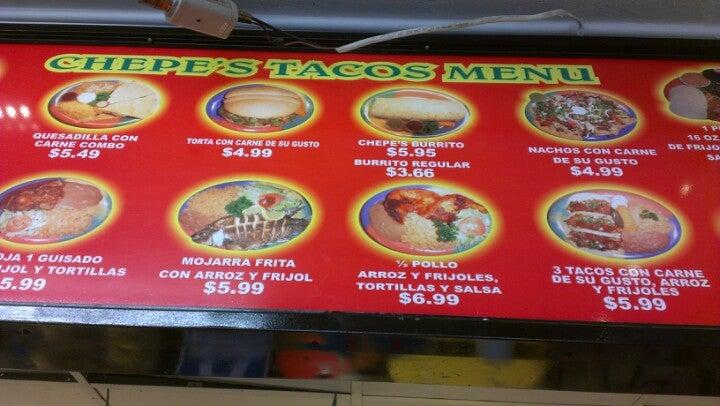 Chepes Tacos 300 Bear Mountain Blvd, Arvin
