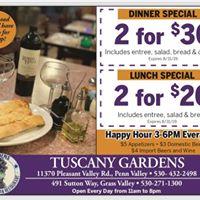 Tuscany Gardens Pizzeria LLC