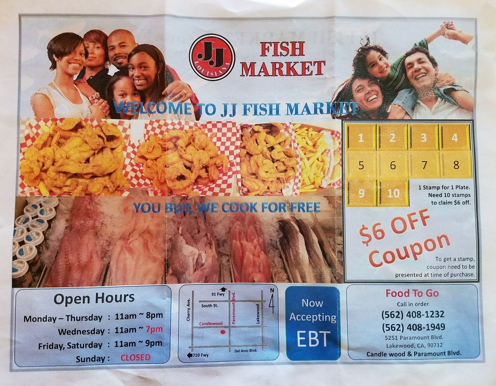 JJ Fish Market 5251 Paramount Blvd, Lakewood