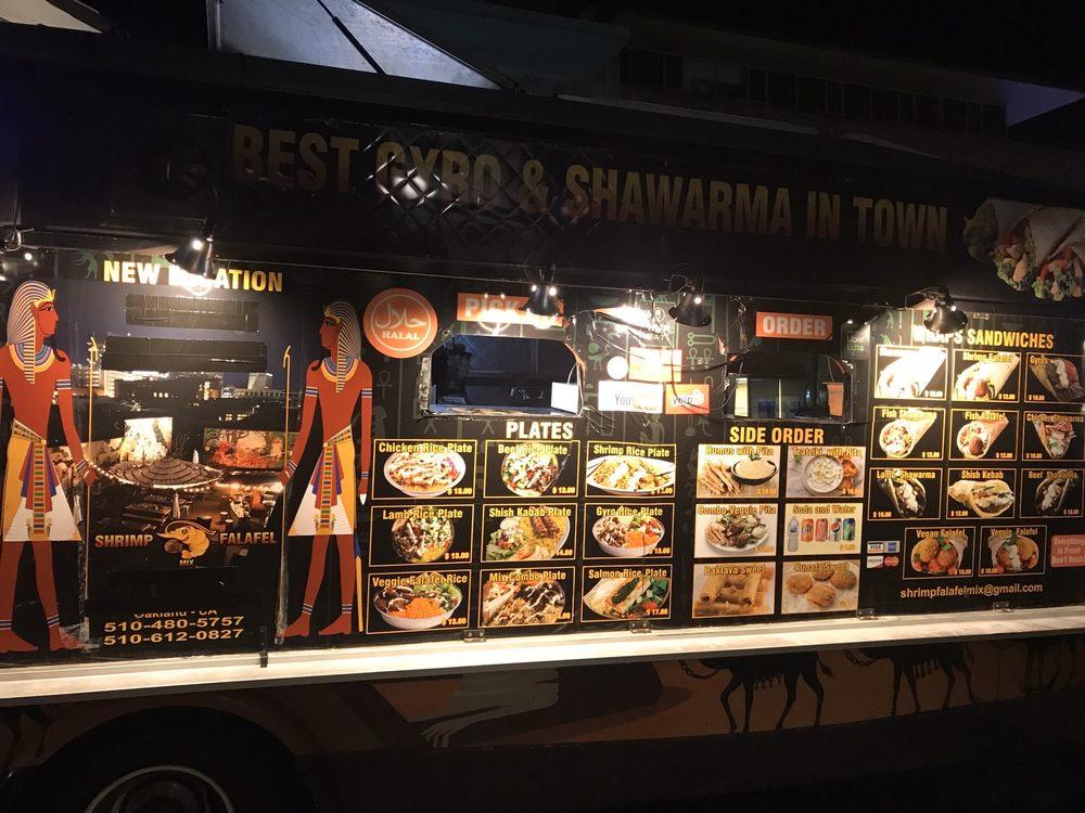 Shrimp falafel mix truck 1738 Telegraph Ave, Oakland