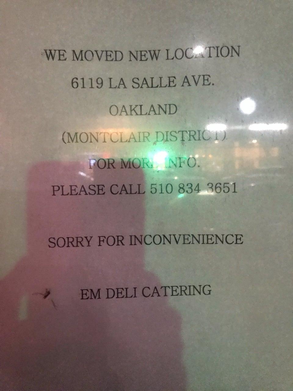 EM Deli Catering 6119 La Salle Ave, Oakland