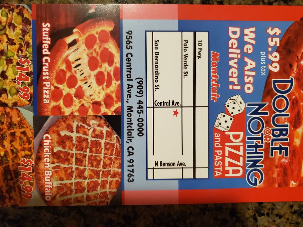 Double Or Nothin Pizza 9565 Central Ave, Montclair