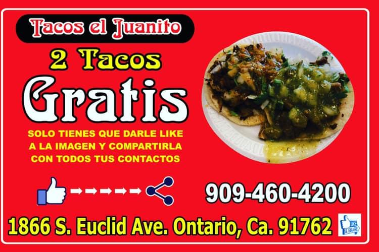 Tacos el Juanito 1866 S Euclid Ave, Ontario