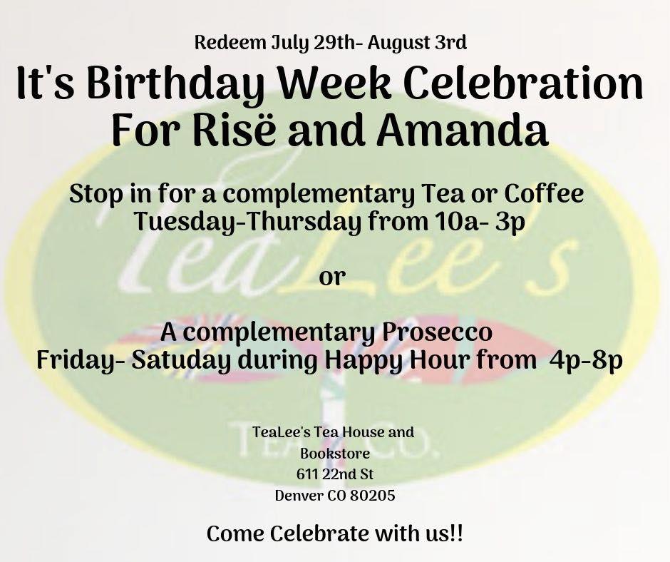 TeaLee's Teahouse 611 22nd St, Denver