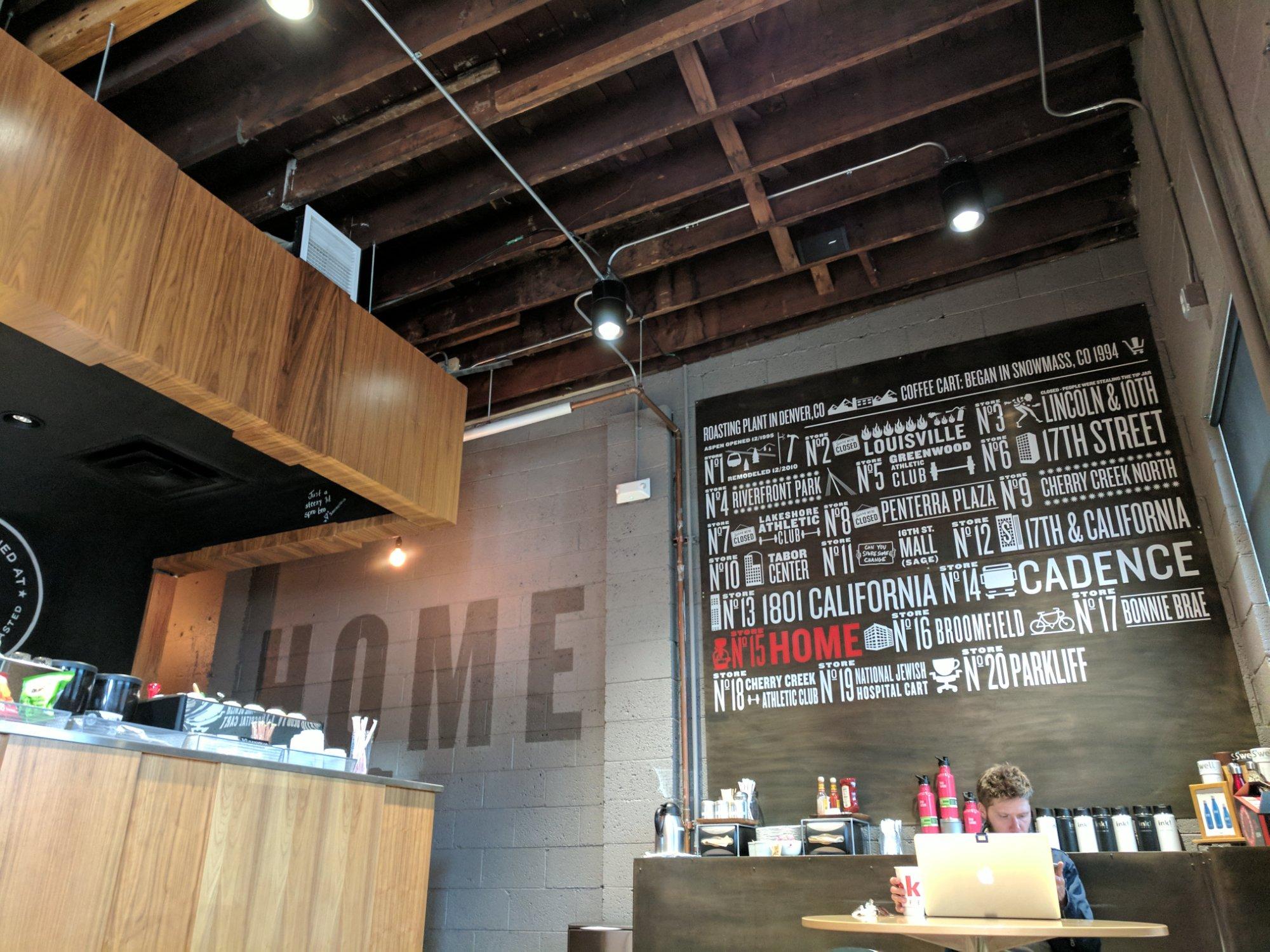 ink! Coffee Home 2851 Larimer St, Denver