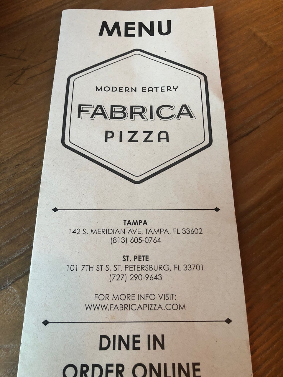 Fabrica Pizza 101 7th St S, St. Petersburg