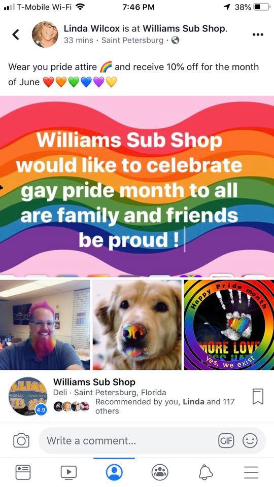 Williams Sub Shop 3801 Tyrone Blvd N, St. Petersburg