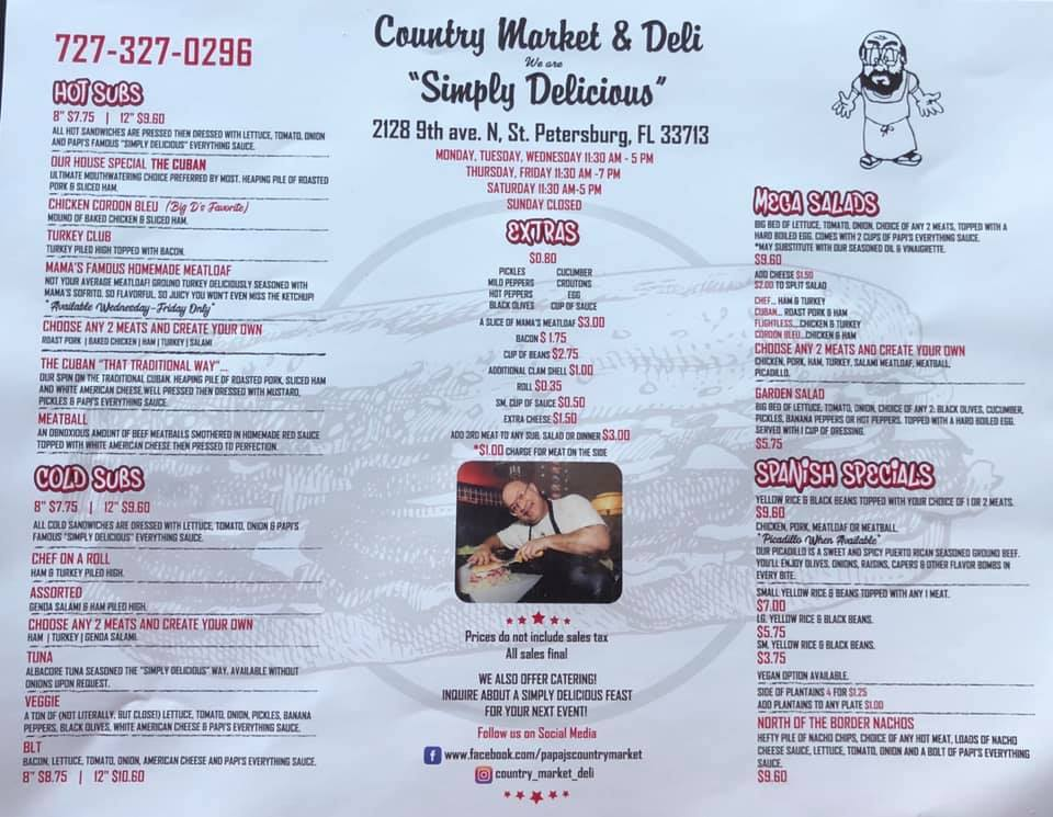 Country Market & Deli 2128 9th Ave N, St. Petersburg