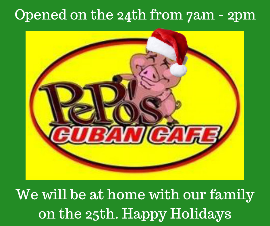 Pepo's Cuban Cafe 9939 4th St N, St. Petersburg