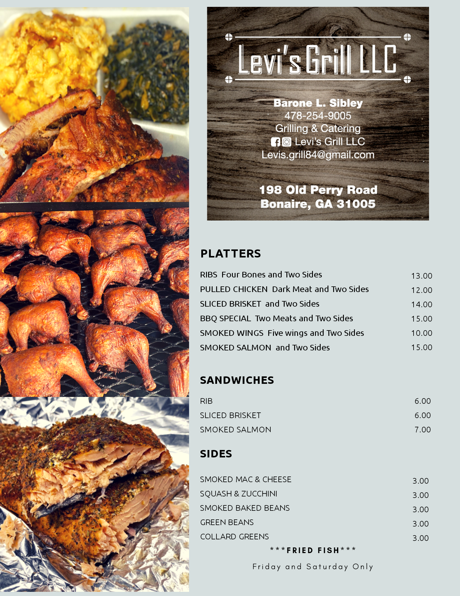 Levi's Grill LLC 198 Old Perry Rd, Bonaire