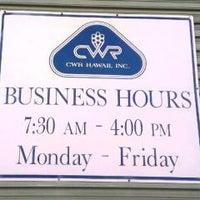 CWR Hawaii Inc