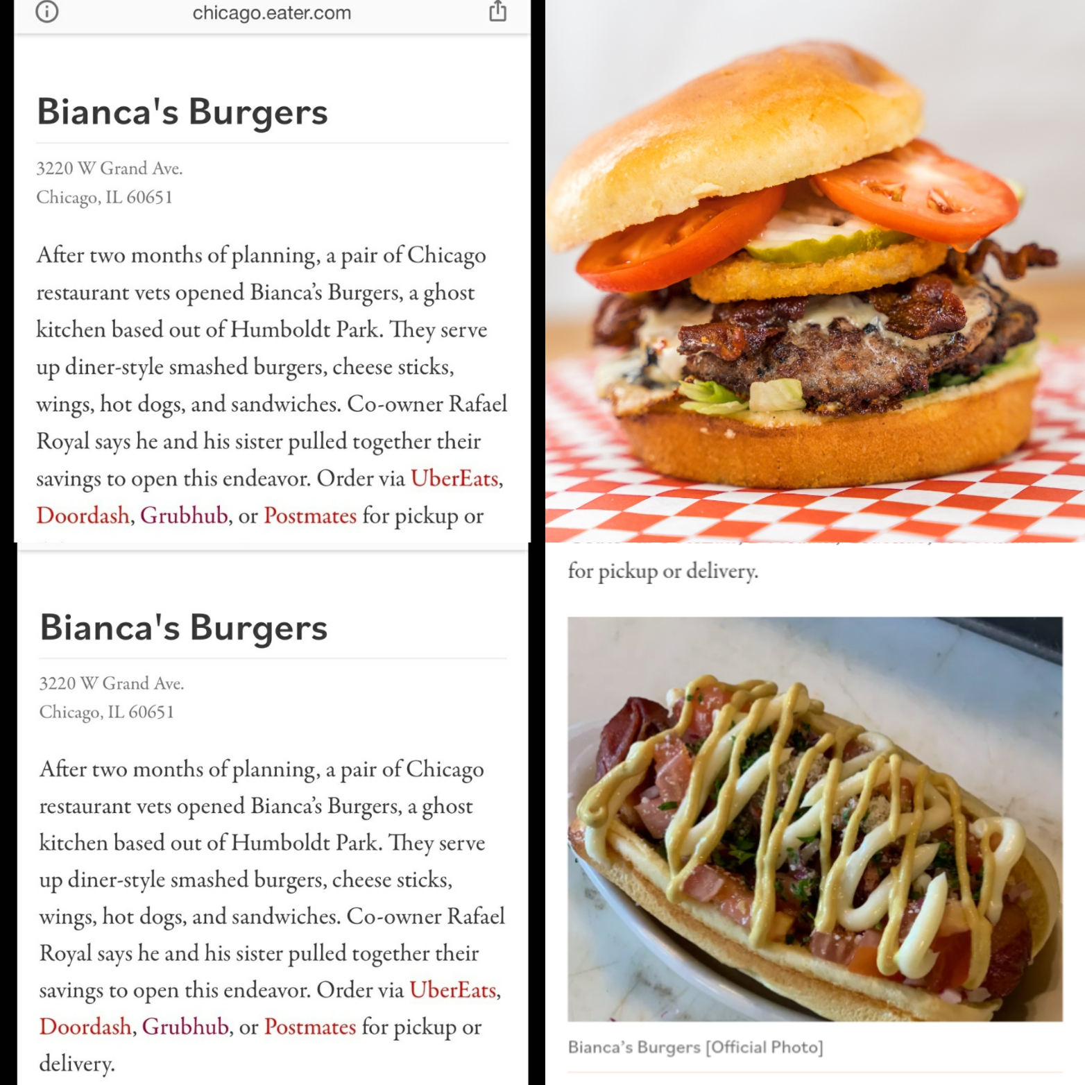 Bianca's Burgers 3220 W Grand Ave, Chicago