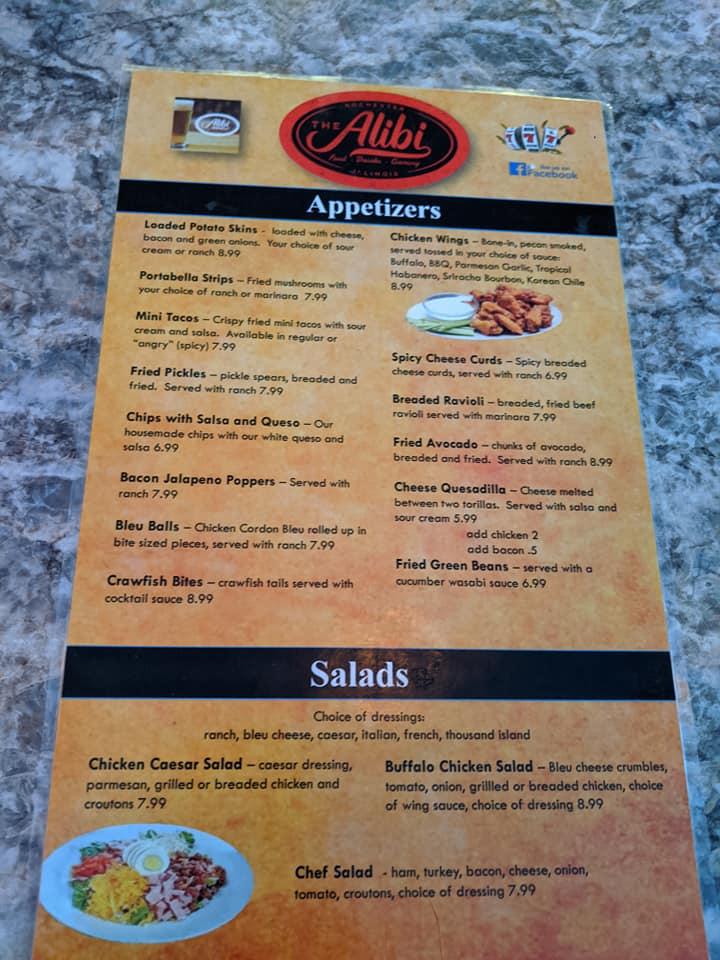 The Alibi Rochester Il 62563 Menu 57 Reviews And Photos Restaurantji