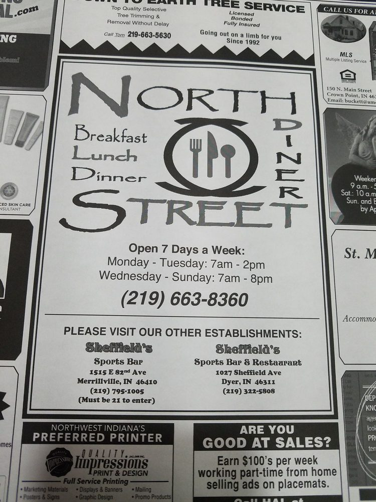 North Street Diner 620 E North St, Crown Point