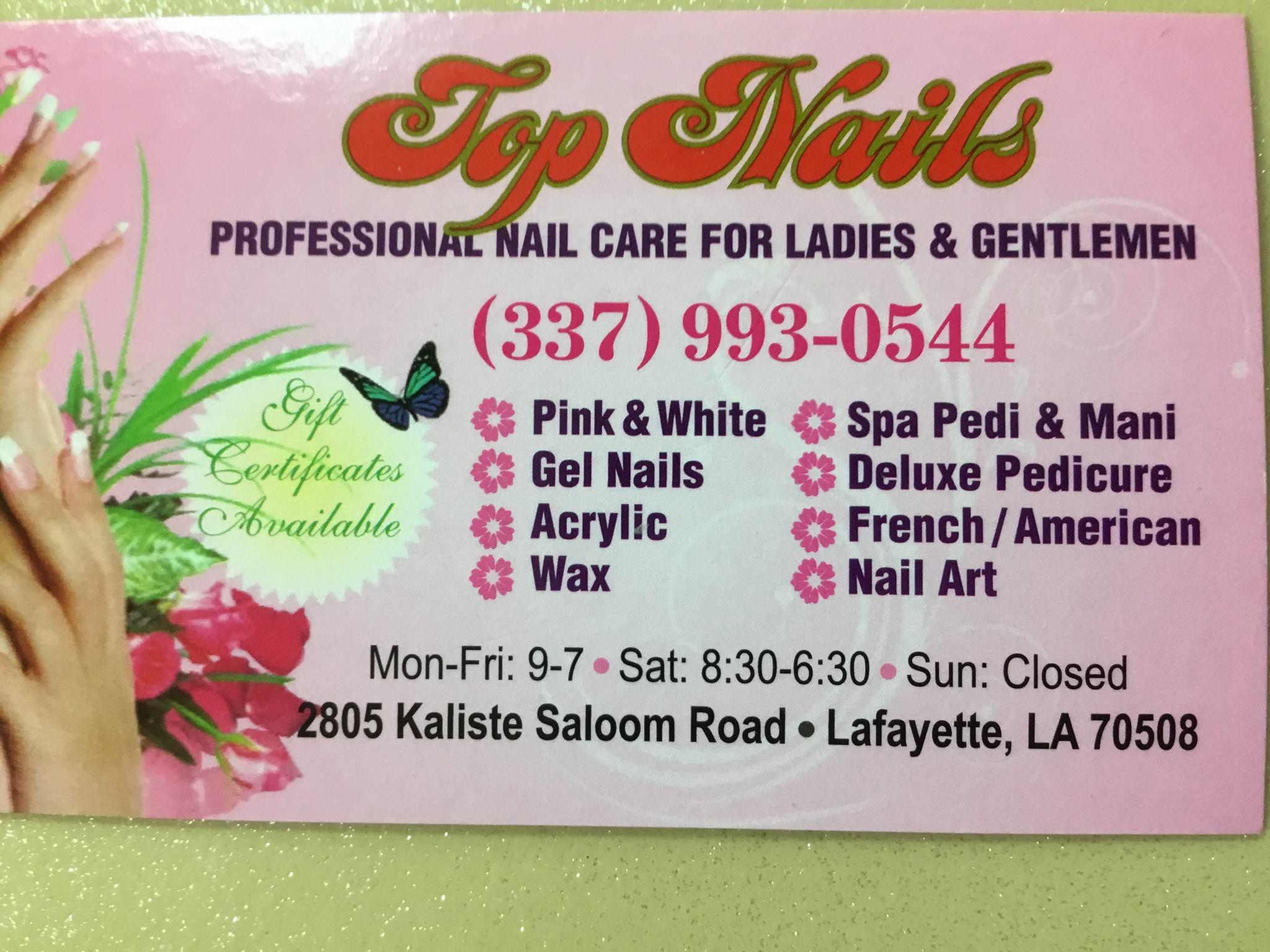 Top Nails 2805 Kaliste Saloom Rd, Lafayette