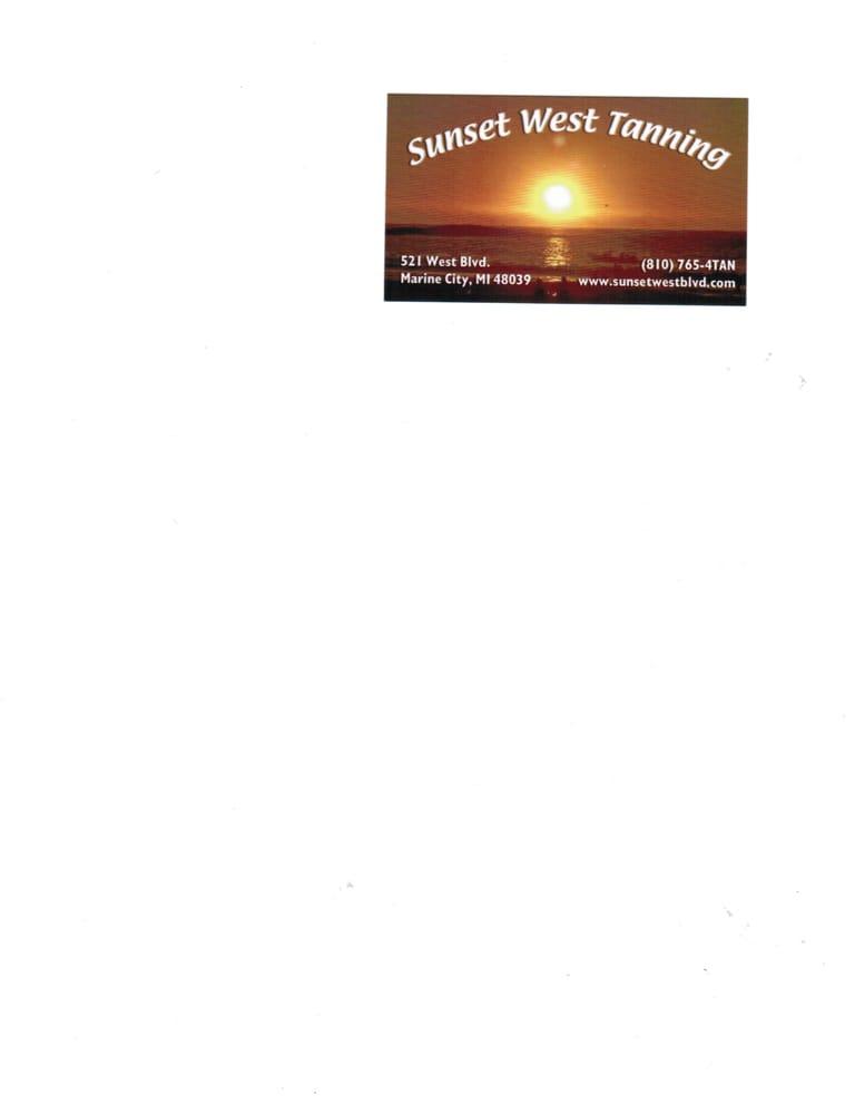 Sunset West Tanning & Spa 521 West Blvd, Marine City