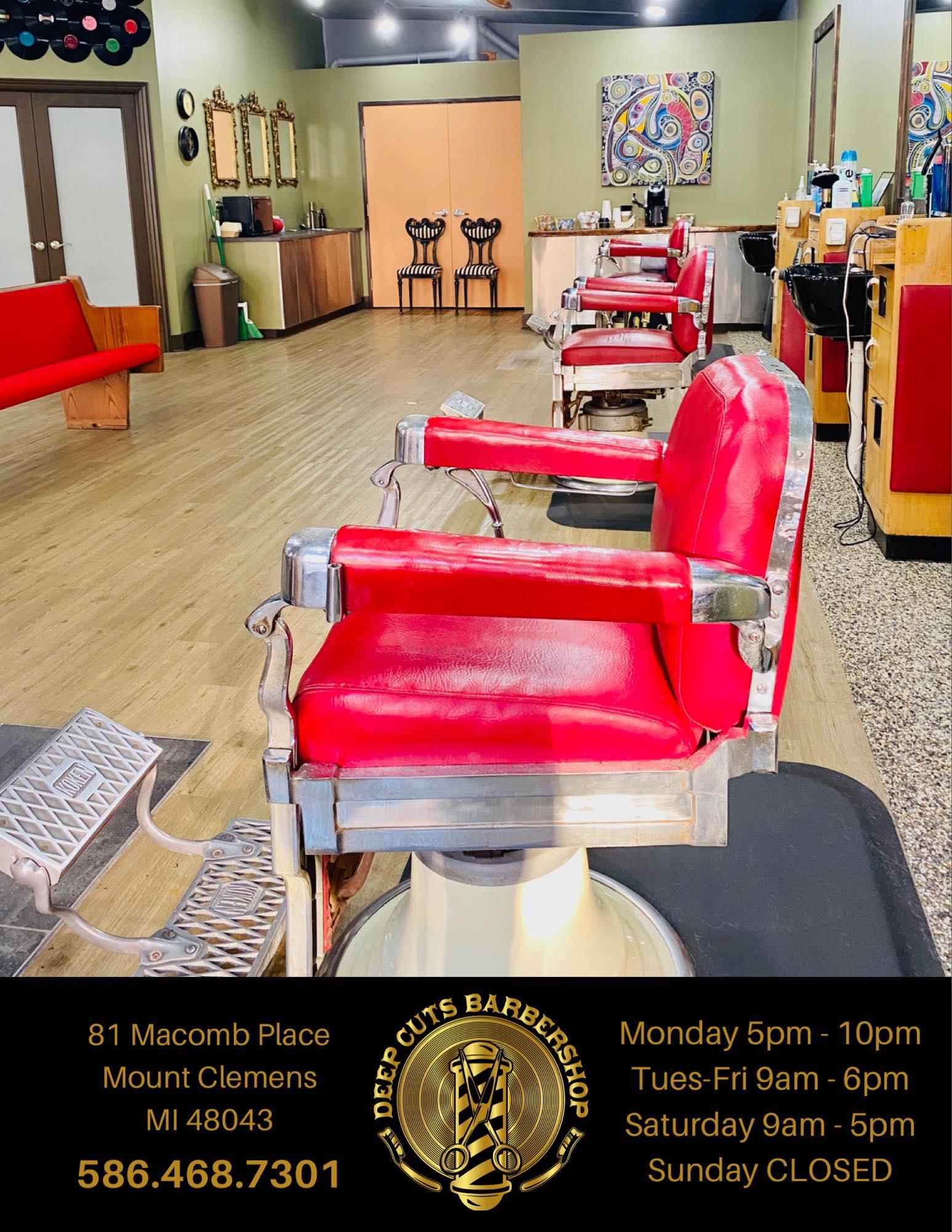 Deep Cuts Barbershop 81 Macomb Pl, Mt Clemens