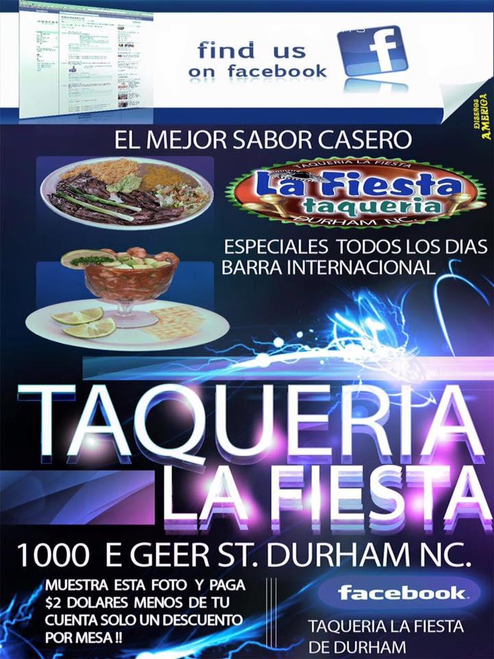 Taqueria La Fiesta 1002 E Geer St, Durham