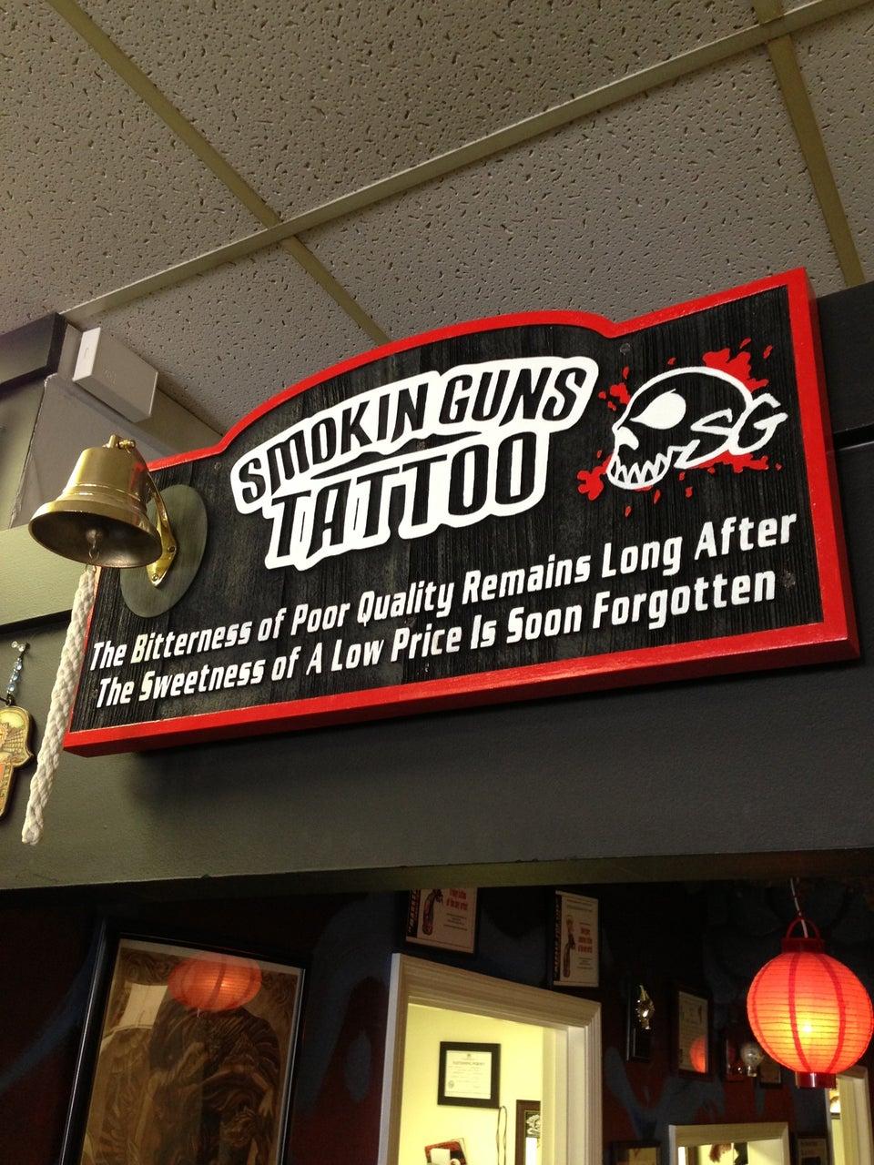 Smokin' Guns Tattoo