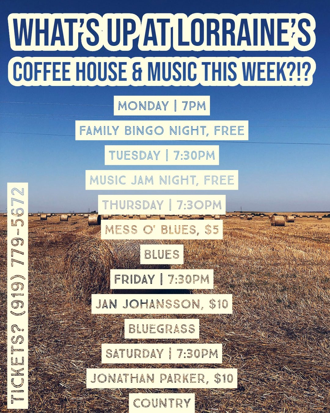 Lorraine's Coffee House and Music 101 Timber Pointe Ln, Garner