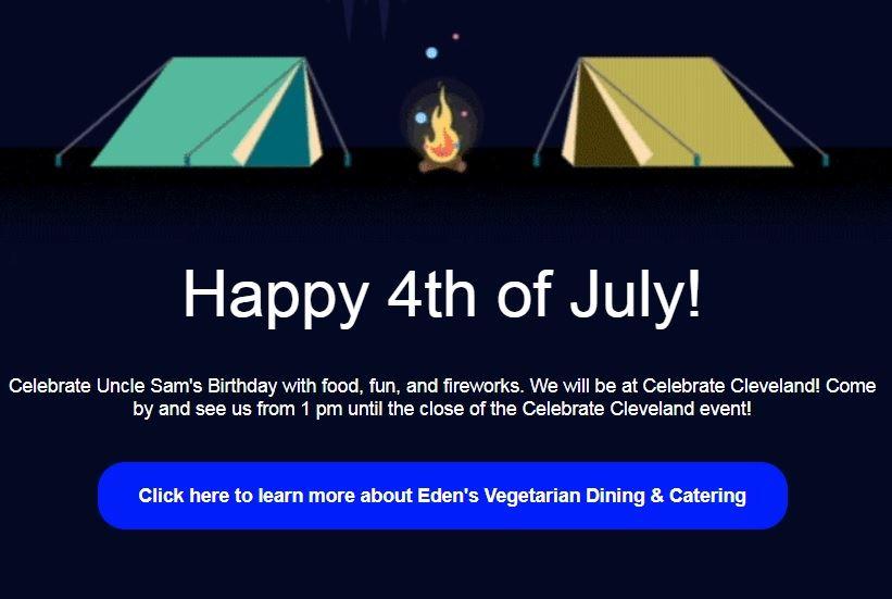 Eden's Vegetarian Dining & Catering Services 11048 Cleveland Rd #101, Garner