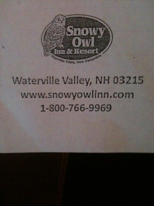 Snowy Owl Inn 41 Village Rd, Waterville Valley