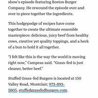 Stuffed Grassfed Burgers