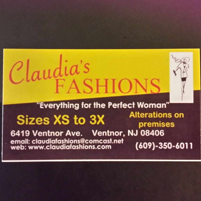 Claudia's Fashions 6423 Ventnor Ave, Ventnor City
