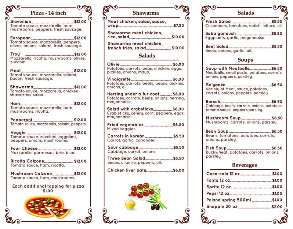 Slavonian European Cafe 7 Northern Dr, Troy