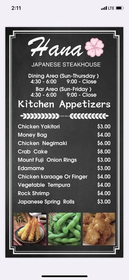 Hana Japanese Steakhouse 1620 Western Ave, Albany