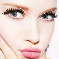 White Stone Eyelash
