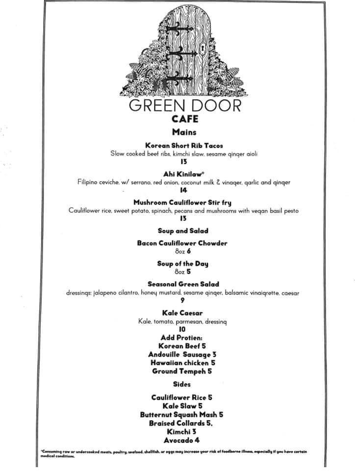 Green Door Cafe 332 10th St, Astoria