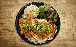 Hy's shrimp Hawaiian food