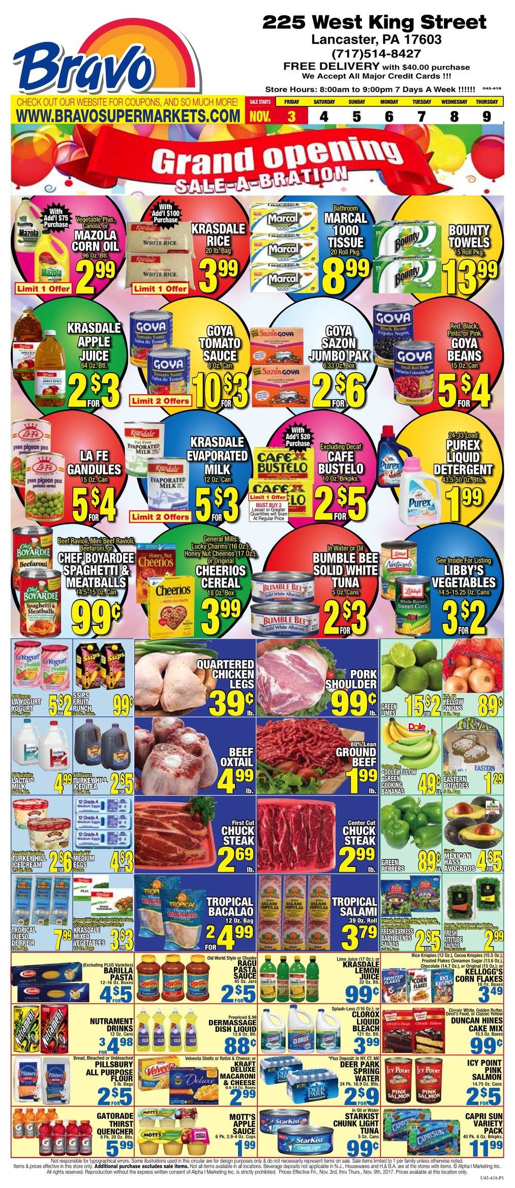 Bravo Supermarket 225 W King St, Lancaster