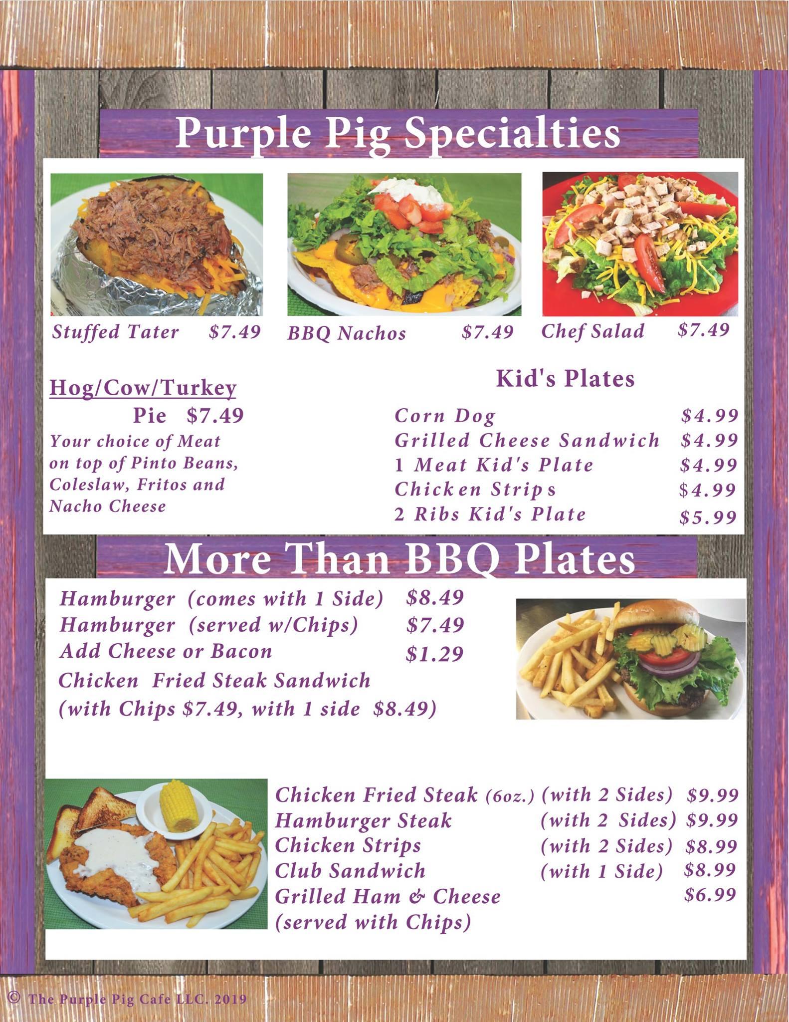 Purple Pig Cafe #2 113 W Longview St, Arp