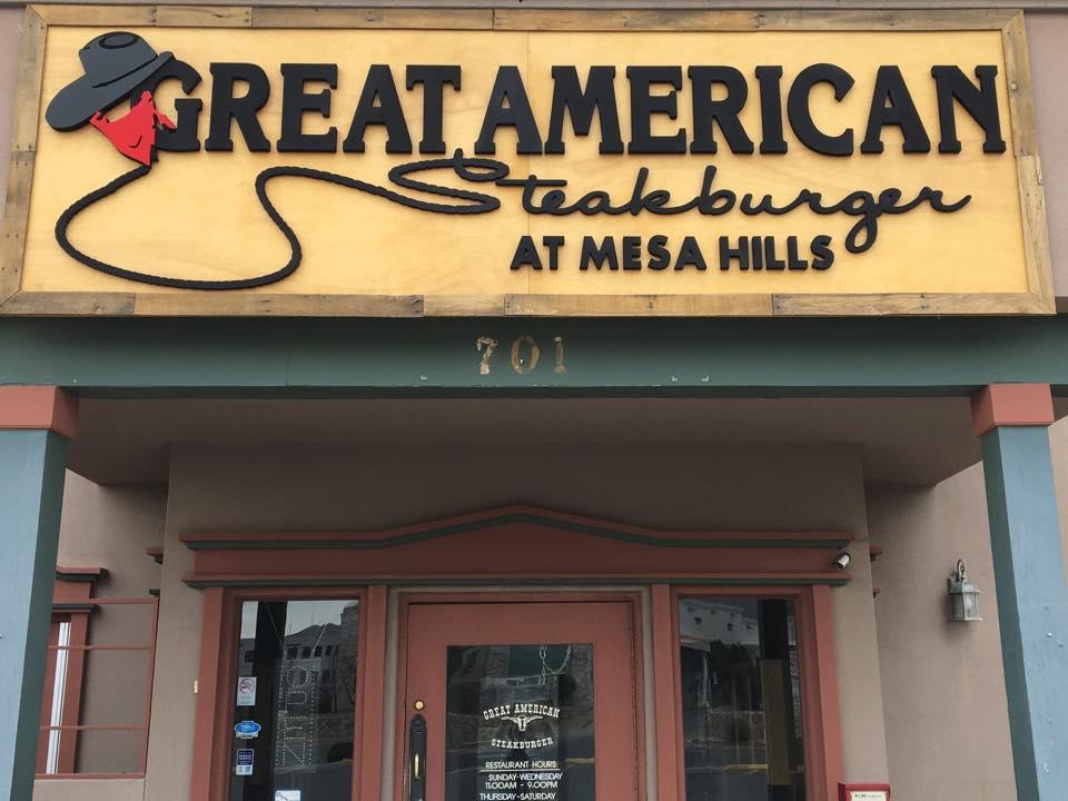 Great American Steakburger 701 S Mesa Hills Dr, El Paso