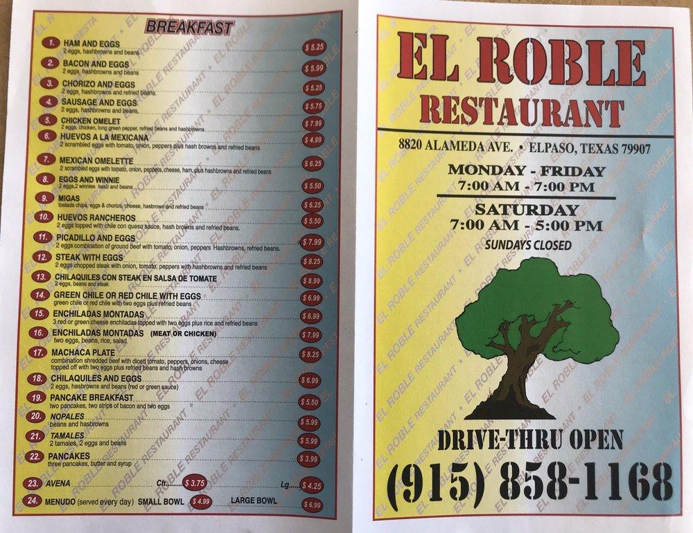 El Roble 8820 Alameda Ave, El Paso